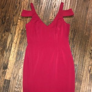 Jay Godfrey Size 10 Cold Shoulder Dress Burgundy